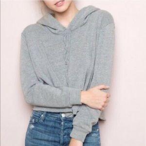 Brandy Melville Cropped Sweater/Hoodie Roll Hem